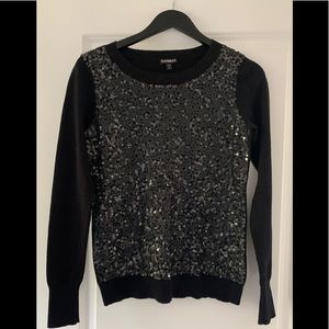 Express Sequin/Knit Sweater ✨🌑